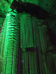 Stalactite in the green light by queely