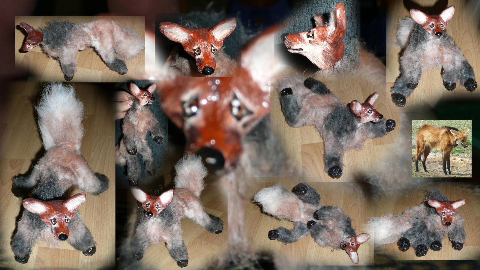 Maned Wolf Pet Maned Wolf Doll by