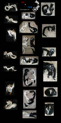 Yin and Yang Posable Dragons by Eviecats