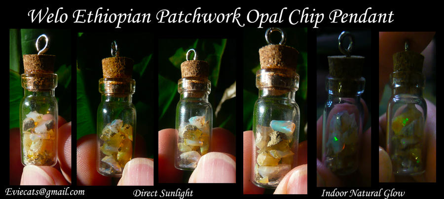Welo Ethiopian Opal Chip Pendant by Eviecats
