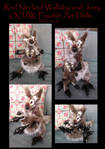 Red Necked Wallaby Mom and Joey Posable Art Dolls