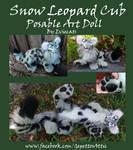 Snow Leopard Cub Posable Art Doll