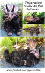 Triceratops Posable Art Doll OOAK