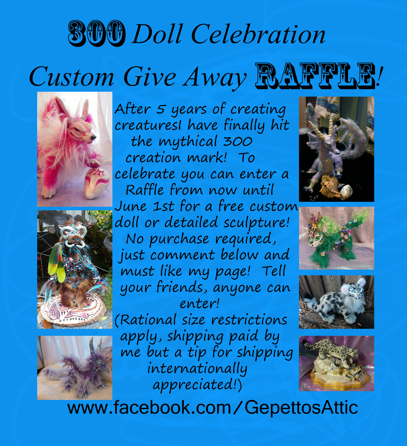 300 Doll Raffle For FREE DOLL by Eviecats
