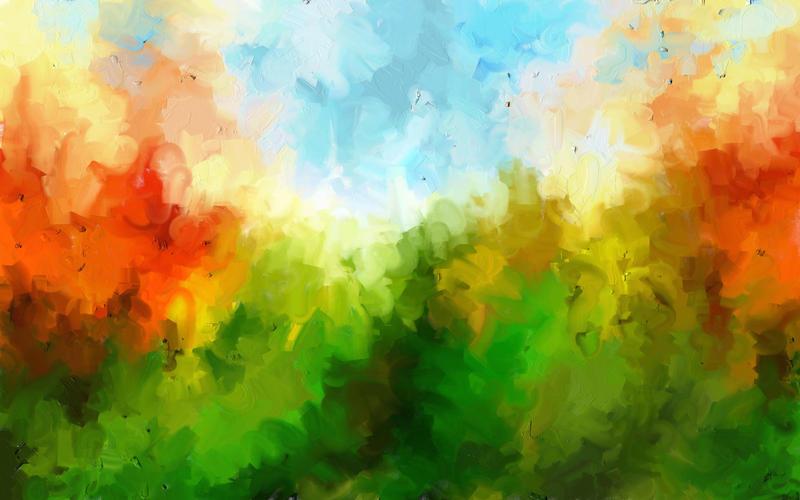 Painted Landscape I by emilieleger