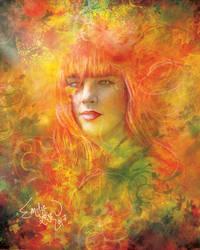 L'Automne et ses Muses I - Rouge by emilieleger