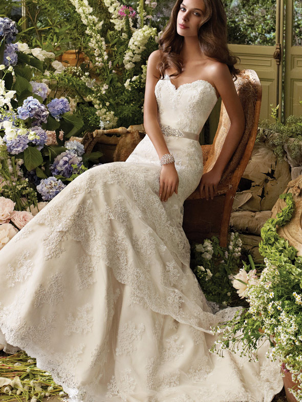Wedding Dresses Lace Strapless : Lace strapless sweetheart wedding dress by foxgowns on
