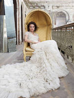Baroque Inspired Vintage Wedding Dress with Lace