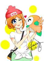 Pokemon Fanart Rowlet by JmesgART