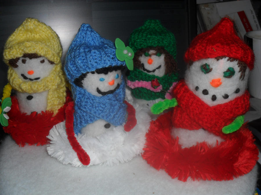 The Fabulous Four ...Snowmen. by Cuddlepuss
