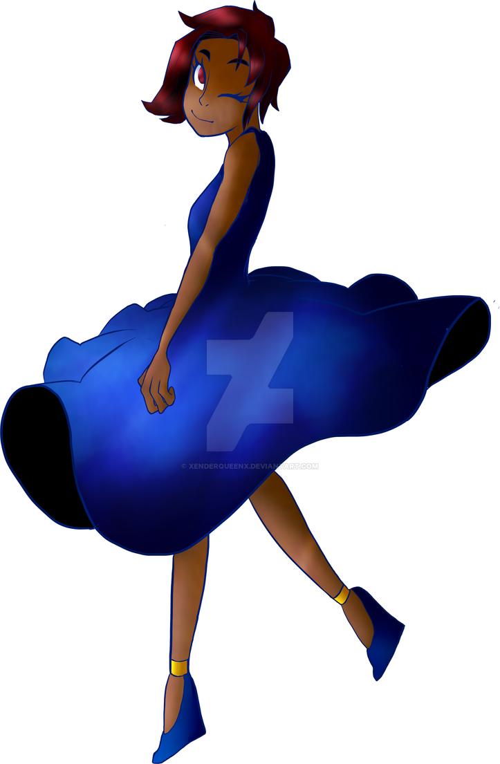 Blue dress by xEnderQueenx