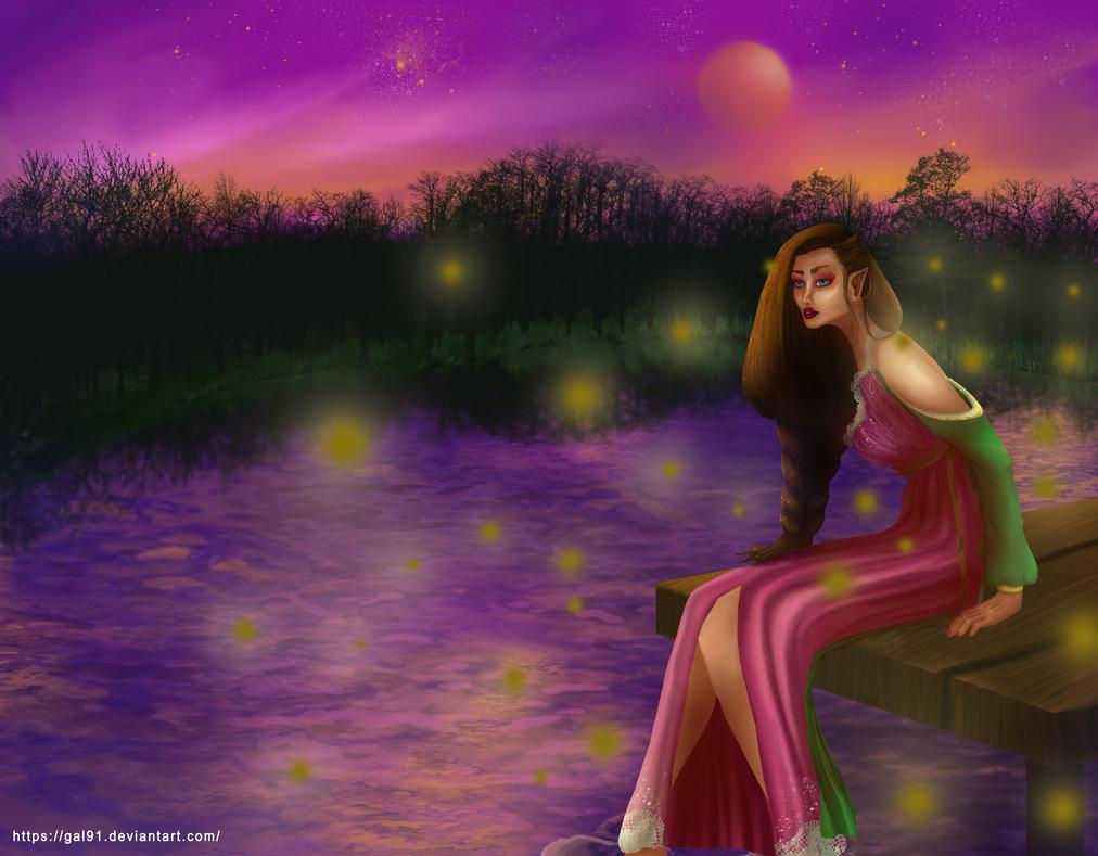 Water Fairy ~ Elf by gal91