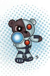 Cyborg Teddy Bear Mashup