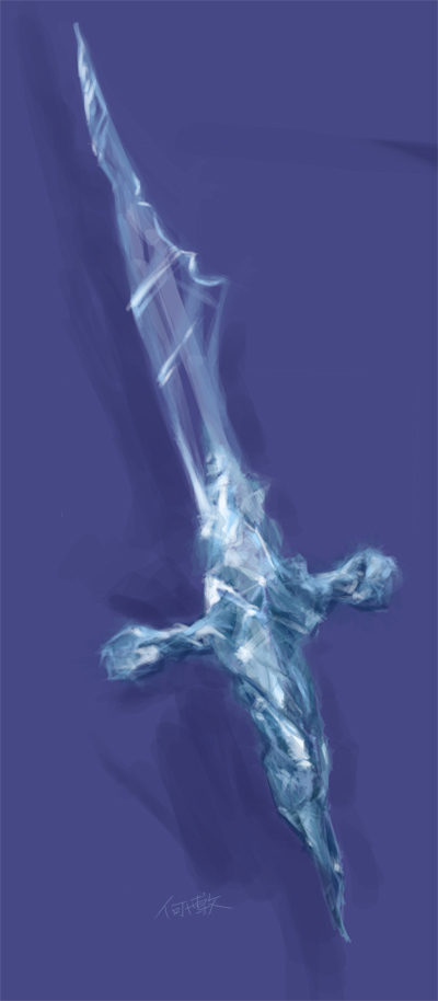 Ice Dagger by cirrusapple