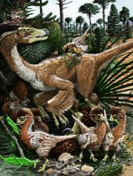 Velociraptor family day by Psithyrus