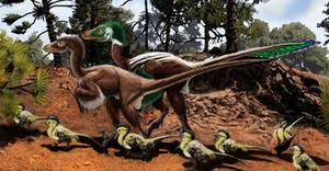 Dromaeosaurus closeup