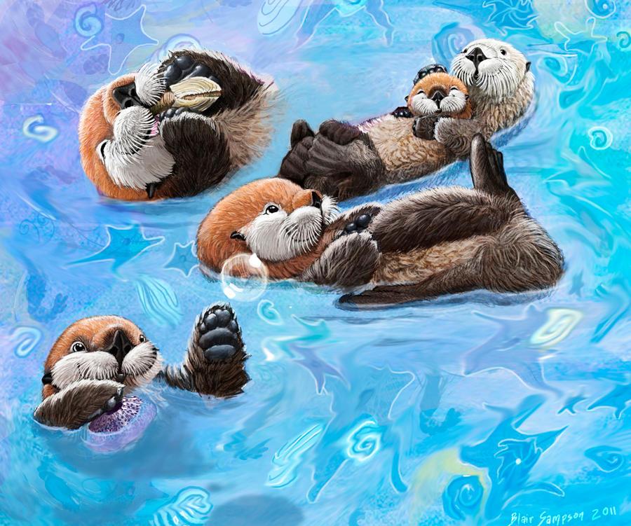 Sea Otter Dreams By Psithyrus On Deviantart