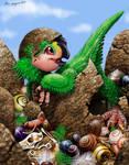 Baby Oviraptor, Where's the Mama? by Psithyrus