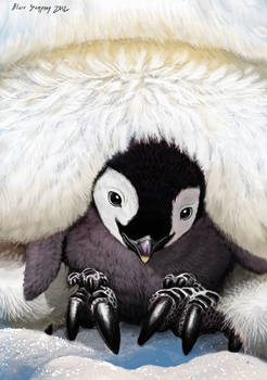 Warmest Place on Earth, Baby Penguin by Psithyrus