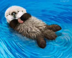 Sea Otter Awareness Week, Newborn Otter Pup by Psithyrus