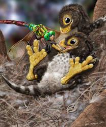 Baby Feathered Dinosaurs, Balaur bondoc by Psithyrus