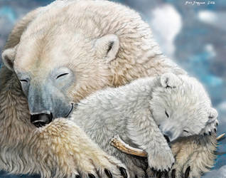 Warmest Place on Earth 2 Polar Bear Family by Psithyrus