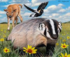 badger buddies by Psithyrus