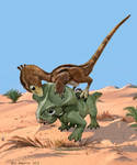 Walking With Dino, Velociraptor and Protoceratops