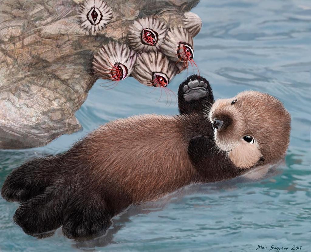 Sea Otter Holding Hand...