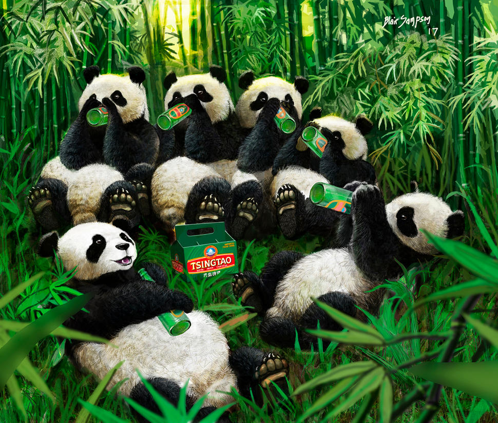 Six pack of Pandas by Psithyrus
