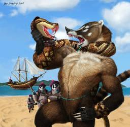 Traders  pandas versus coatis