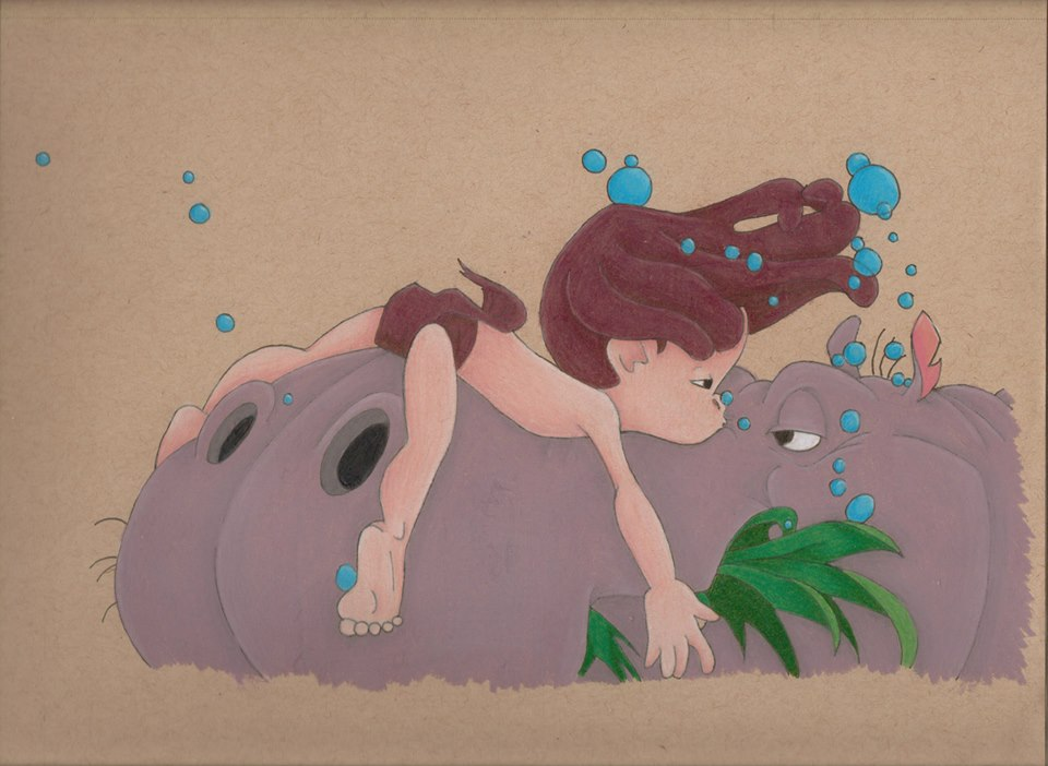 Tarzan on a hippo by ISleepWithSirens