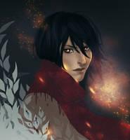Attack on titan Mikasa by KuroRime