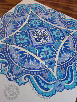 Blue Sharpie Mandala