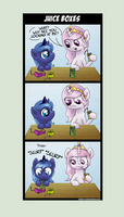 Comic - Tia and Woona - Juice Boxes