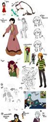 Art Dump - Five by SilentCartoon
