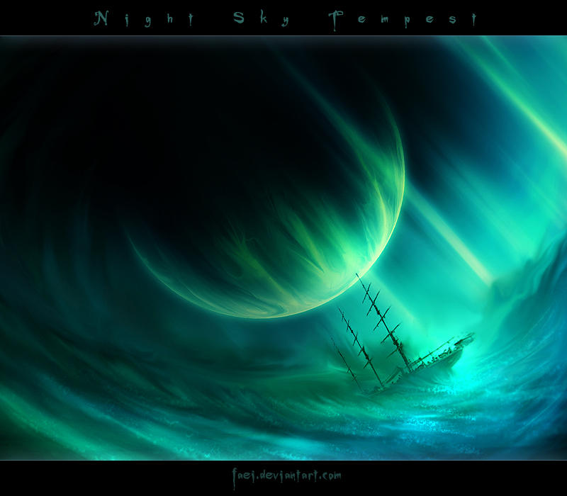 Night Sky Tempest by Faei
