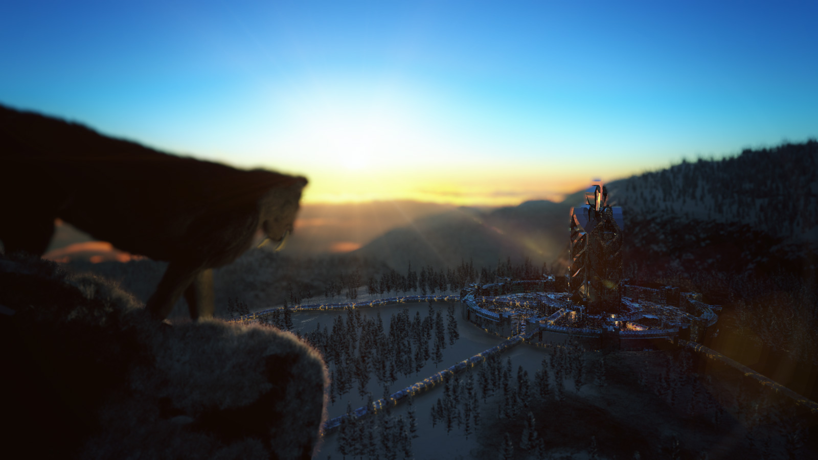 Dawn in Secret Mountain by hoangphamvfx