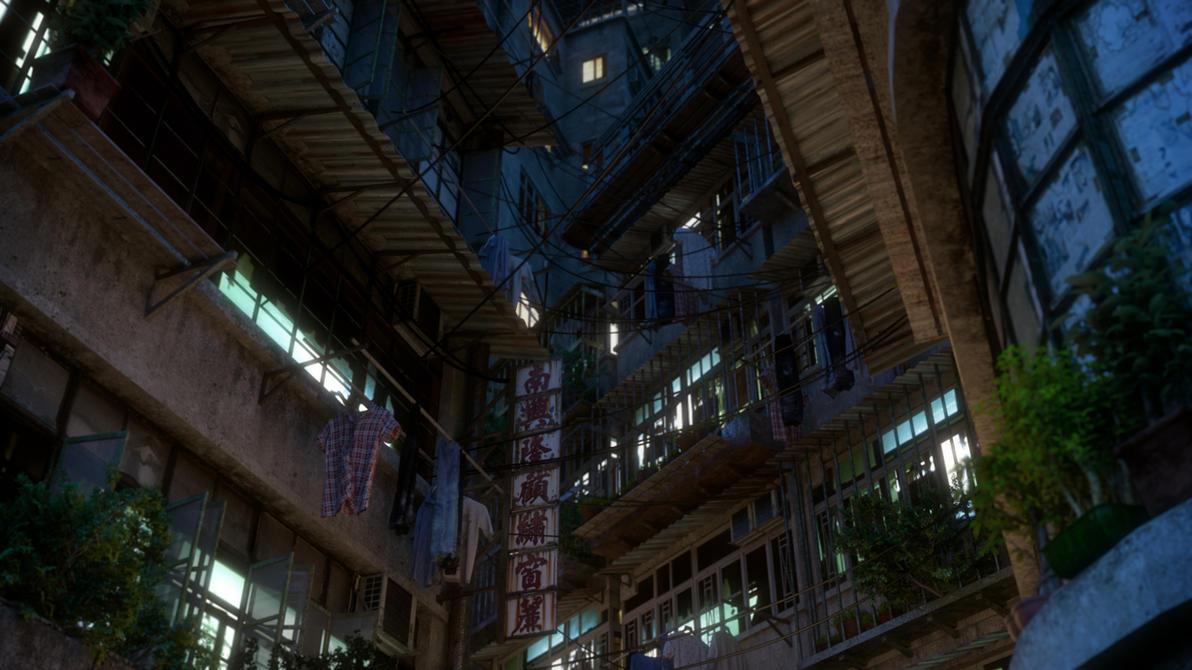 [Kowloon At Nite] Alley by hoangphamvfx