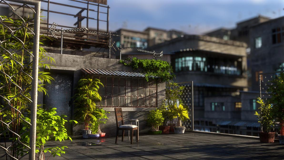 [Kowloon At Nite] Rooftop by hoangphamvfx