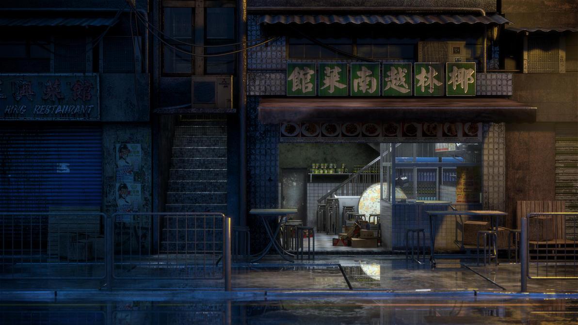 [Kowloon At Nite] Little Restaurant by hoangphamvfx