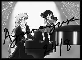 Singing by the Piano by Ayamegusa