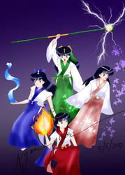 Four Kagome shikigami by Ayamegusa