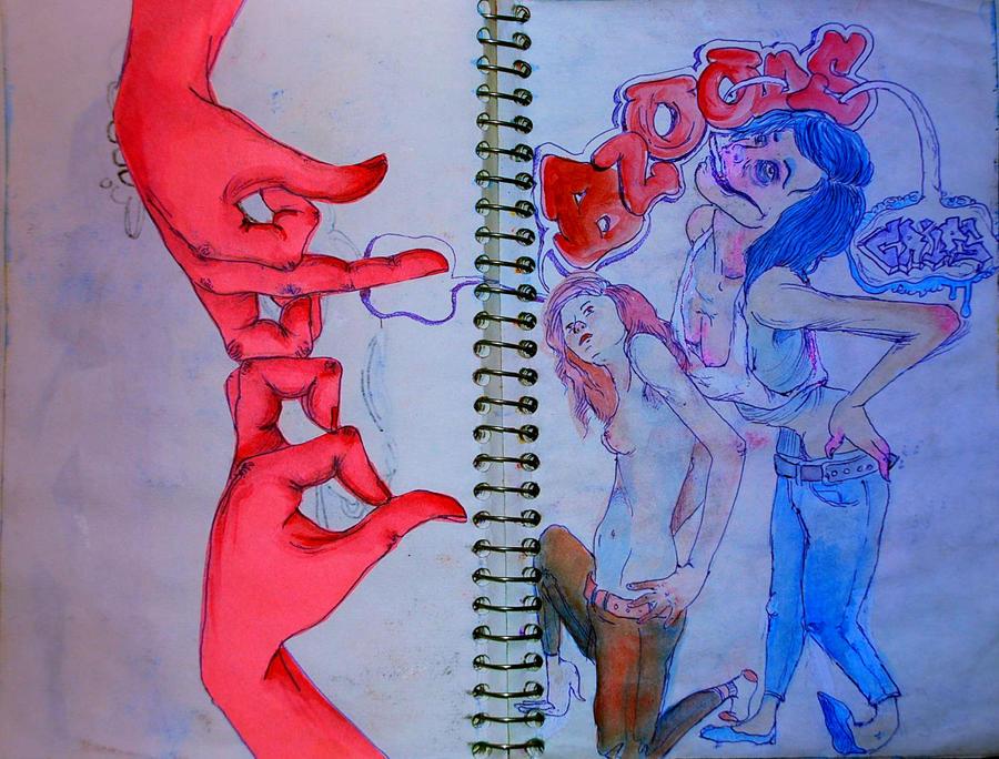Bloods and the crips by flowwwer on deviantart - Blood gang cartoon ...