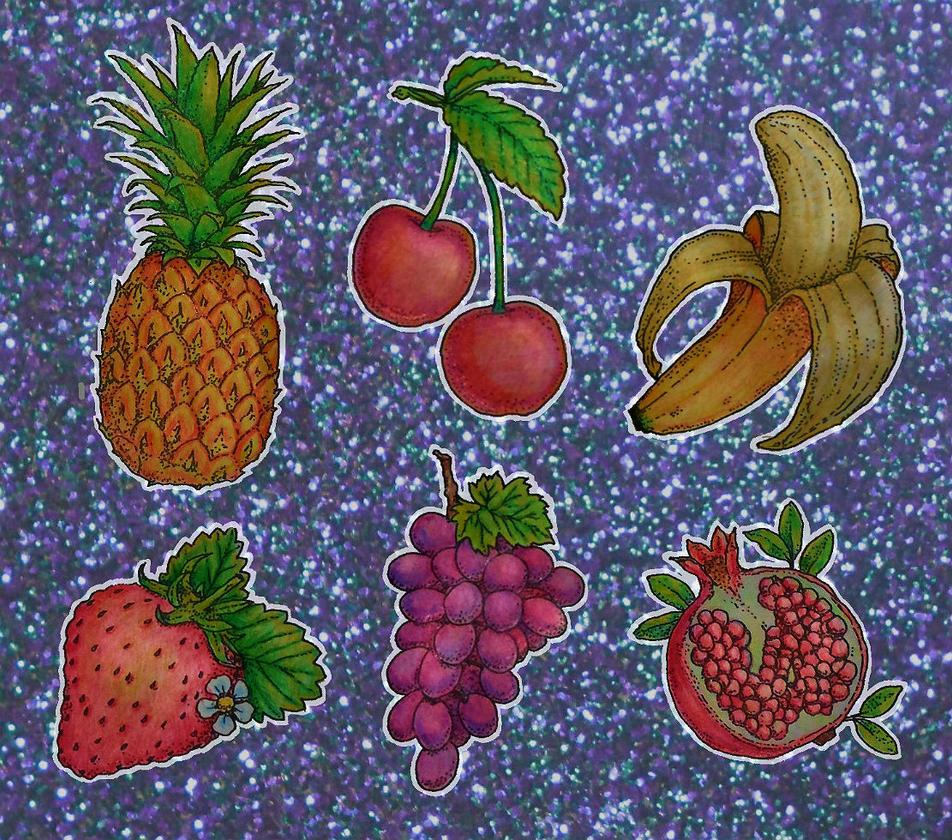 fruity stickers by flowwwer