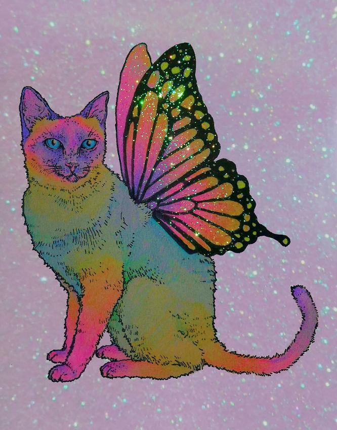 faery feline by flowwwer