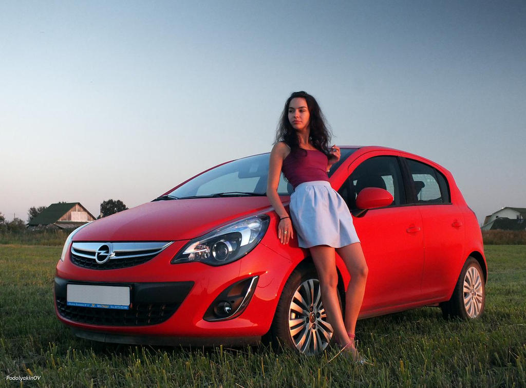 opel corsa and a girl by blooder2006 on deviantart. Black Bedroom Furniture Sets. Home Design Ideas