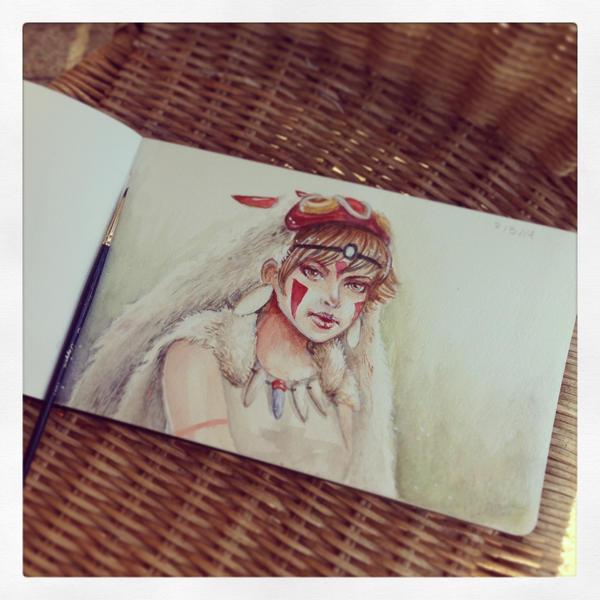 Day 2 - Mononoke Hime by Alejandra-perez