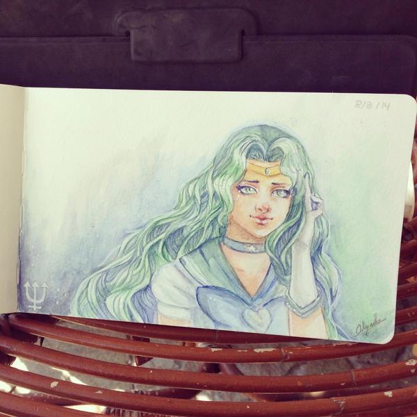 Day 3  - Sailor Neptune by Alejandra-perez