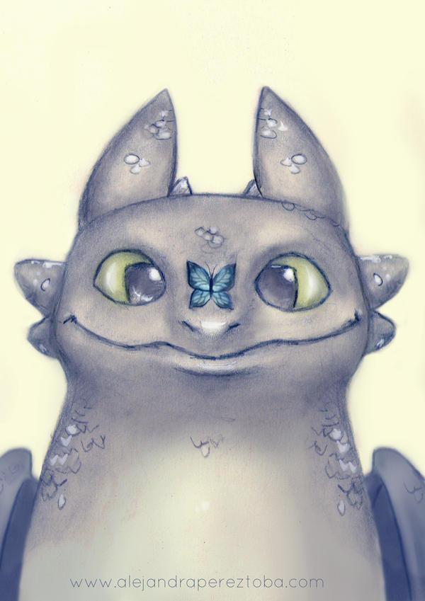 Toothless Sketch by Alejandra-perez